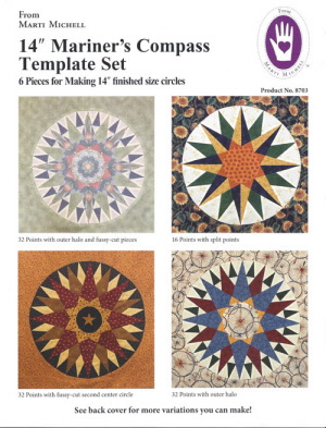 14 inch Mariner's Compass Template Set