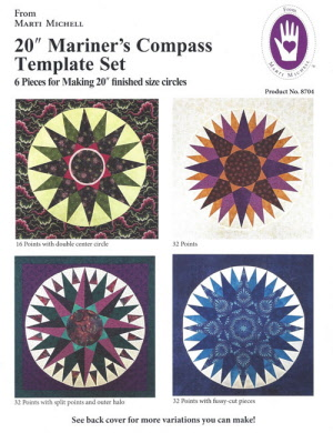 20 inch Mariner's Compass Template Set
