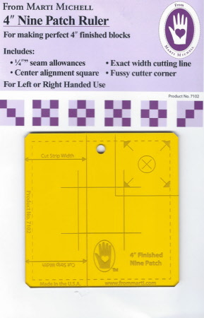 4 inch Nine Patch Ruler