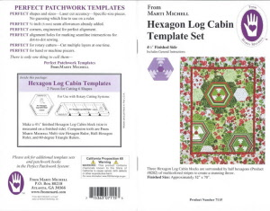 Hexagon Log Cabin Template Set